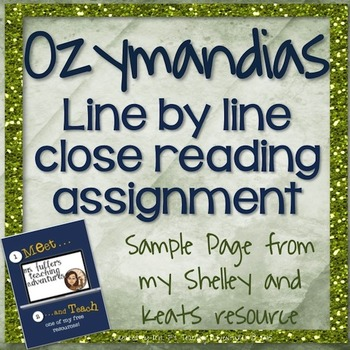 Ozymandias- Meet and Teach with Ms. Fuller's Teaching Adventures