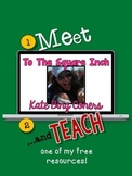 Meet and Teach with To The Square Inch- Kate Bing Coners *Math Freebie*