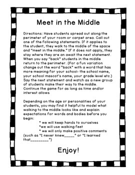 Meet in the Middle: A Getting to Know You Brain Break