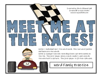 Meet me at the Races- Word Families