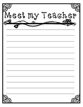 Meet my DREAM TEACHER ~ Creative Writing for Back to School