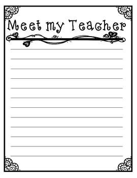 Meet my DREAM TEACHER ~ Creative Writing for Back to School