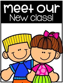 Meet our New Class- Back to School Class Book