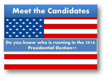 Meet the 2016 Presidential Candidates and Their Positions-editable verison