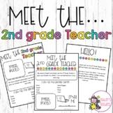 Meet the 2nd Grade Teacher Editable Letters