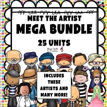 Meet the Artist- MEGA BUNDLE - 25 UNITS - OVER 800 PAGES!