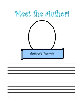 Meet the Author Book Page