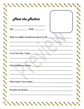 Meet the Author Student Author Template