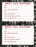 Meet the Author classroom writing aid