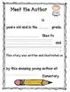 Meet the Author page--FREEBIE!