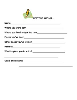 Meet the Author template