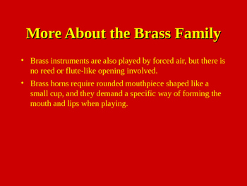 Meet the Brass Family Powerpoint