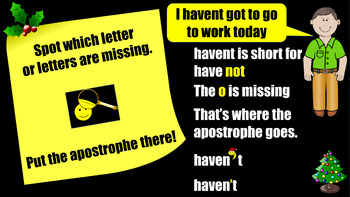 Meet the 'Christmas Missing Letter Detective' - The Apostrophe for Omission