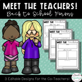 Meet the Co-Teachers: Editable Forms