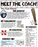 Meet the Coach- Baseball Theme