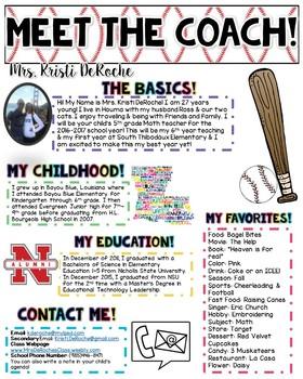 Meet the Coach- Baseball Theme