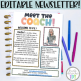 Meet the Coach- EDITABLE- Bright Stripes