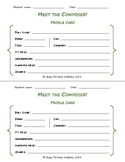 Meet the Composer!  {Profile Cards only}