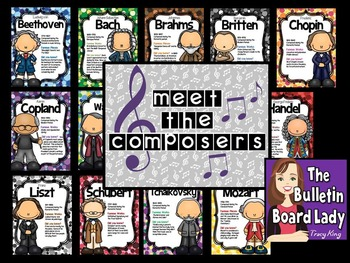 Meet the Composers Bulletin Board for Music Class