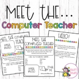 Meet the Computer Teacher Editable Letters