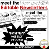 Meet the Counsellor Editable Newsletter - Australian version FREEBIE