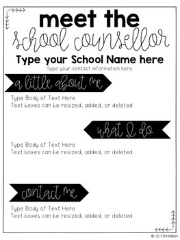 Meet the Counsellor Editable Newsletter - Australian version FREEBIE
