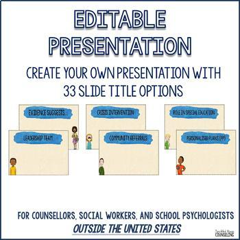 Meet the Counsellor template: Editable introduction handout and presentation