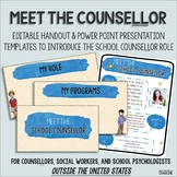 Meet the Counsellor editable presentation and handout