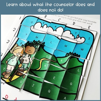 Meet the Counselor Escape Room Back to School Cooperative Puzzle Activity