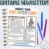 Meet the Counselor-EDITABLE- Bright Stripes