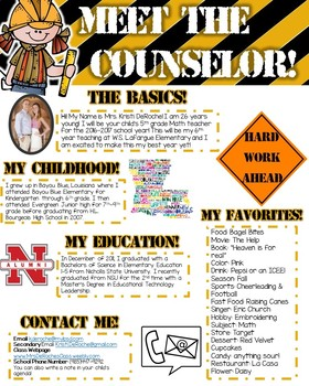 Meet the Counselor- EDITABLE- Construction