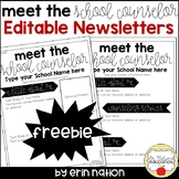 Meet the Counselor Editable Newsletter FREEBIE