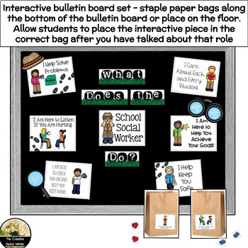 Counseling Bulletin Board Set Elementary Roles of a Counselor & Activity