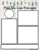 Meet the Case Manager EDITABLE Newsletter Flyer
