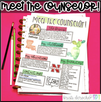 Meet the Counselor Newsletter - EDITABLE - Cactus
