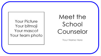 Meet the Counselor Powerpoint / Would You Rather game