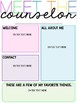 Meet the Counselor Templates {Editable}
