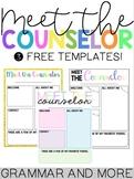 Meet the Counselor Templates {Editable}