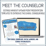 Meet the Counselor editable presentation and handout