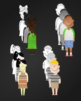 Meet the FabriKids Clip Art Set 1 - Kids and Students