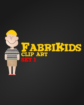 Meet the FabriKids Clip Art Set 1 - Kids and Students