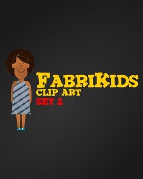 Meet the FabriKids Clip Art Set 2 - Kids and Students
