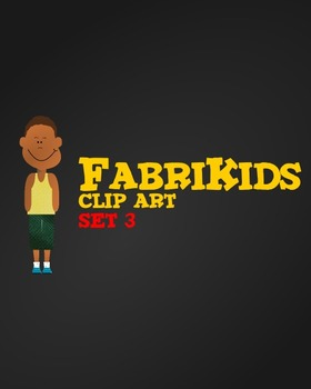 Meet the FabriKids Clip Art Set 3 - Kids and Students
