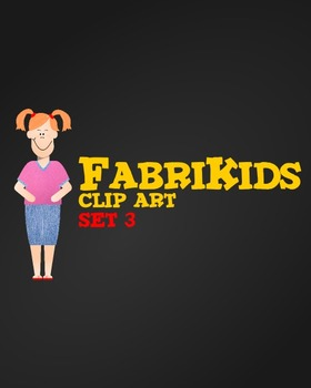 Meet the FabriKids Clip Art Set 4 - Kids and Students