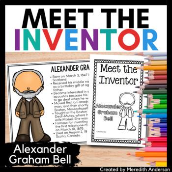Alexander Graham Bell Inventor Study / Biography Activity