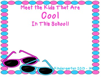 Meet the Kids That Are Cool in This School! A Classroom Photo Book