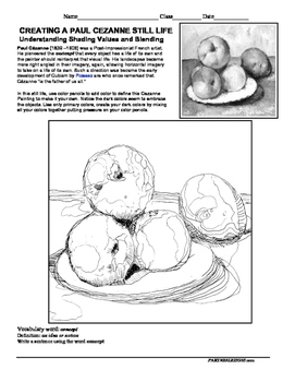 Meet the Master Cezanne-A Free Drawing Lesson on Shading & Blending