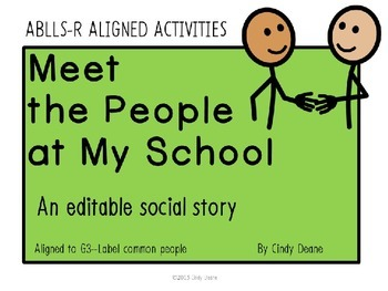 Meet the People at My School-- An Editable Social Story with SymbolStix