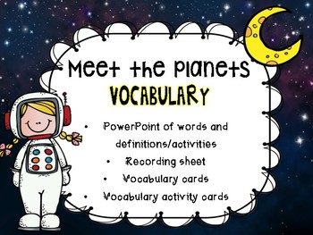 Meet the Planets Vocabulary activity