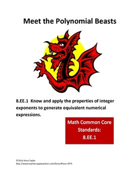 Meet the Polynomial Beasts! Simplify Polynomials Challenge Problems Math 8.EE.1